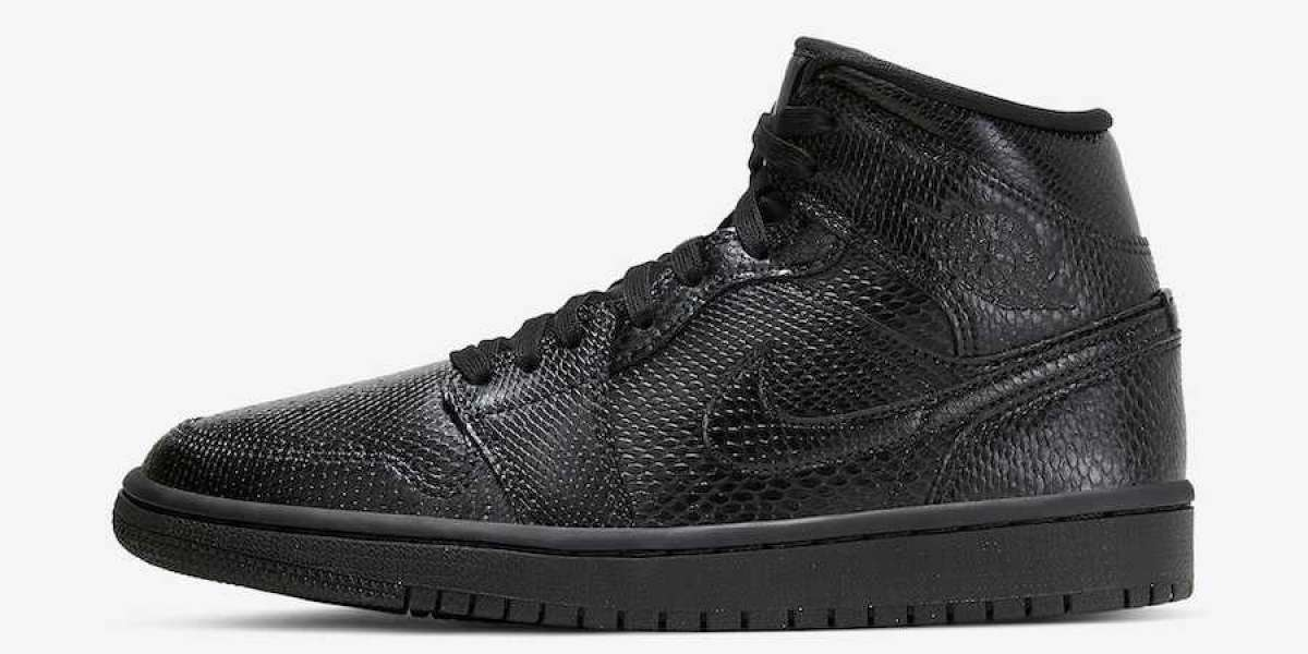 Air Jordan 1 Mid Black Snakeskin is Now Available