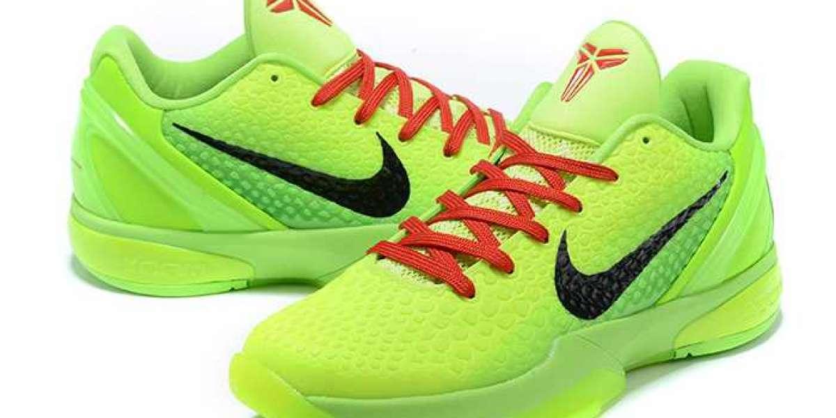 "Nike Kobe 6 Protro ""Grinch"" Green Apple/Volt/Crimson/Black 2020 New Released CW2190-300 Hot Sell"