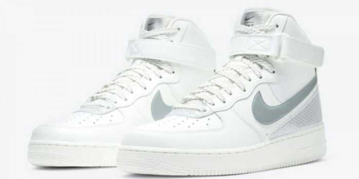 3M x Nike Air Force 1 High White/Metallic Silver/Black 2020 CU4159-100