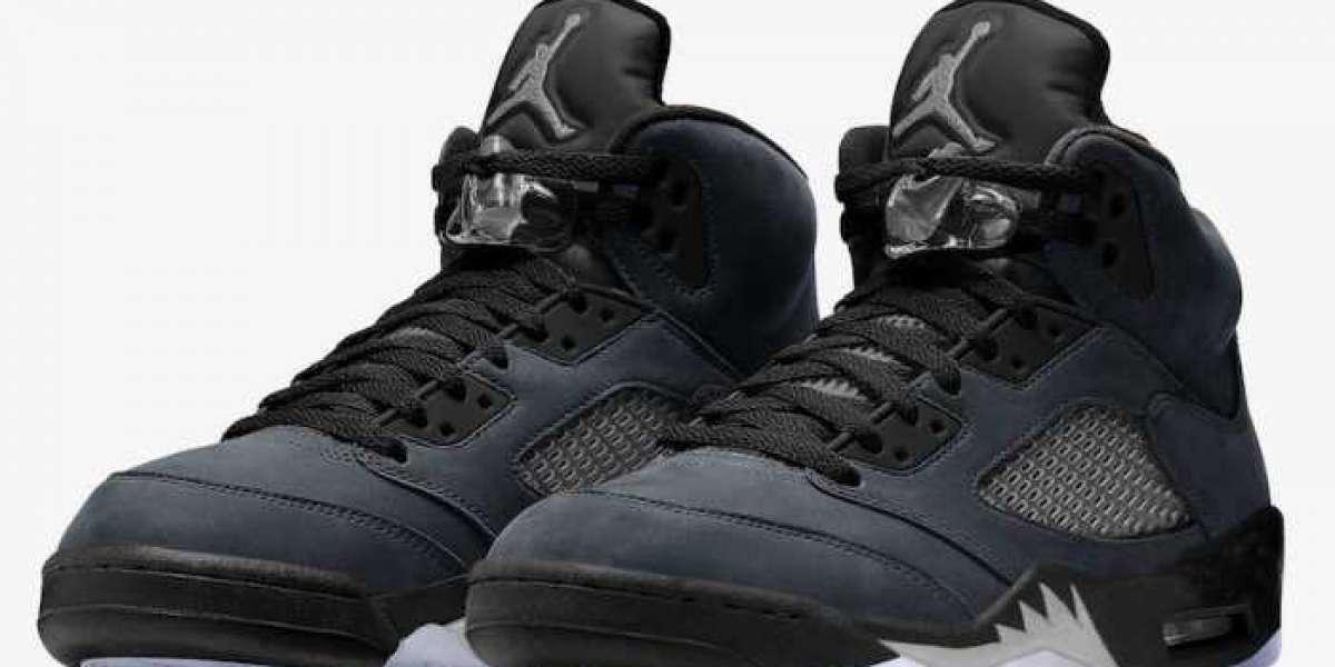 "Most Popular Air Jordan 5 ""Anthracite"" Basketball Shoes"