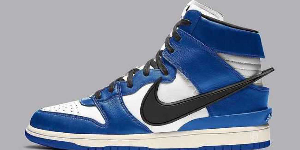 """Ambush x Nike Dunk High """"Deep Royal Blue"""" CU7544-400 has been exposed on the feet and a variety of new YEEZY will be rel"""