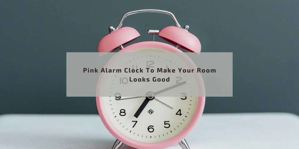 Pink Alarm Clock To Make Your Room Looks Good